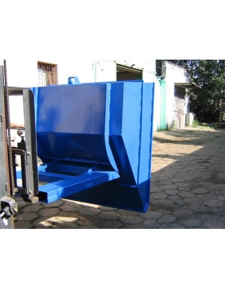 Kontener do wózka widłowego, pojemnik uchylny, koleba