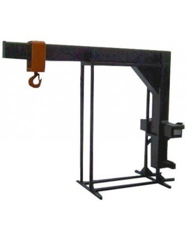 Wysięgnik z hakiem montowany na karetce wózka widłowego